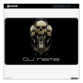 "dj skull headphones Skin For Laptop Skins For 11"" MacBook Air"