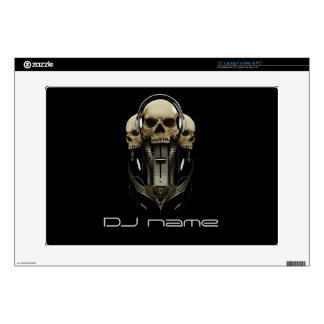 "dj skull headphones Skin For Laptop Skins For 15"" Laptops"