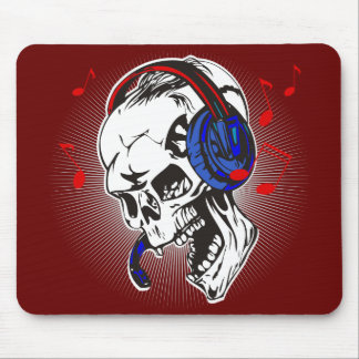 DJ Skull Mouse Pad