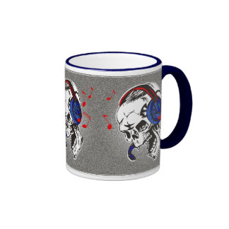 DJ Skull Ringer Coffee Mug