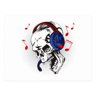 DJ Skull Postcard