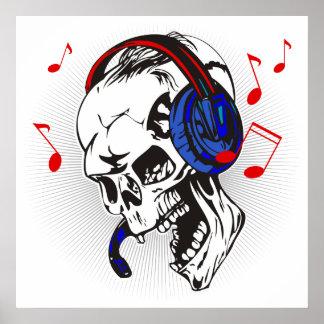 DJ Skull Poster