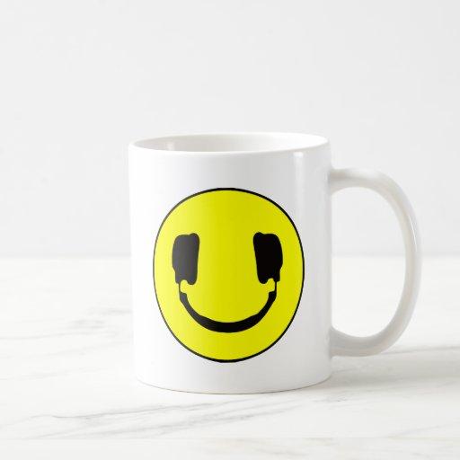 DJ smiley Classic White Coffee Mug