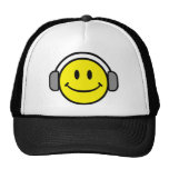 DJ Smiley Face Trucker Hats