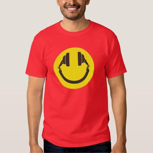 DJ Smiley Headphones T-shirt