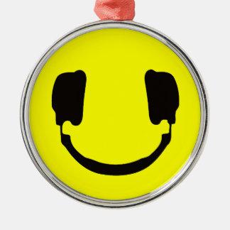 DJ smiley Metal Ornament