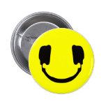DJ smiley Pinback Button