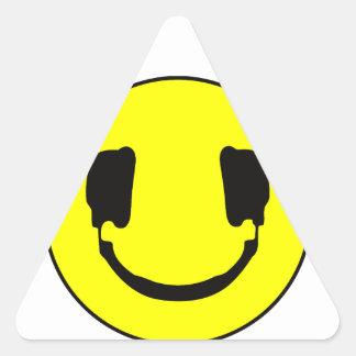 DJ smiley Triangle Sticker
