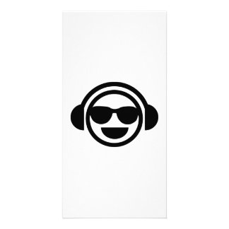 DJ Smiley sunglasses Card