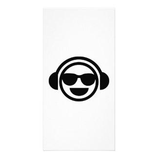 DJ Smiley sunglasses Photo Card