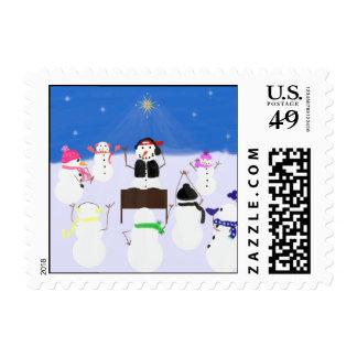 DJ Snowman & Friends Postage