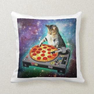 DJ Space Cat throw pillow