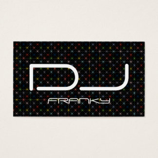 DJ sparkling pastel stars Business Card