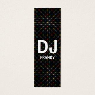 DJ sparkling pastel stars Mini Business Card