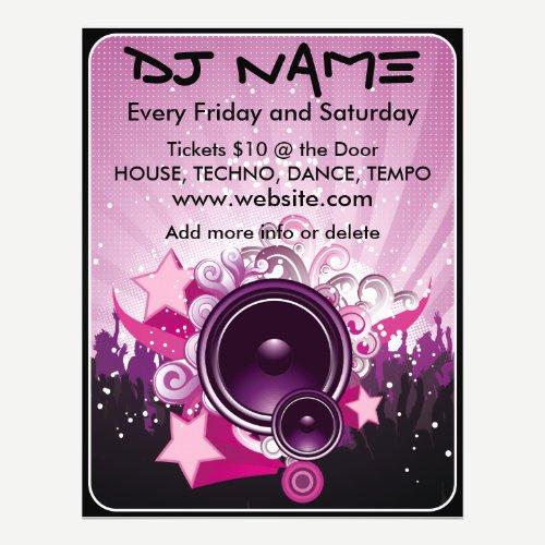 DJ Speaker Music Flyer
