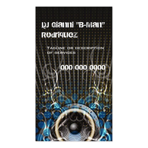 DJ Speaker Rays Business Card