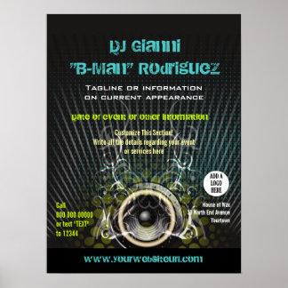 DJ Speaker Rays Promotional Poster