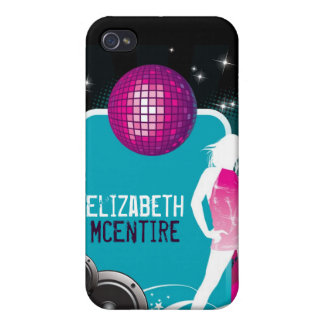 DJ Spin Party Girl Danc Personalized iPhone 4 Case