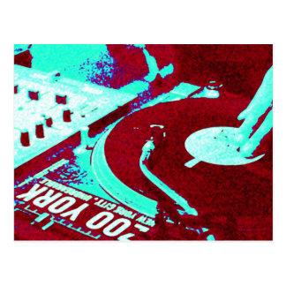 DJ spinning vinyl 4 Postcard