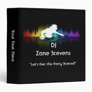 """DJ Spinning Vinyl Binder 1.5"""""""
