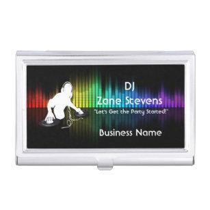 Dj business card holders cases zazzle dj spinning vinyl business card holder colourmoves