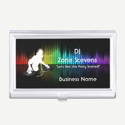 DJ Spinning Vinyl Business Card Holder