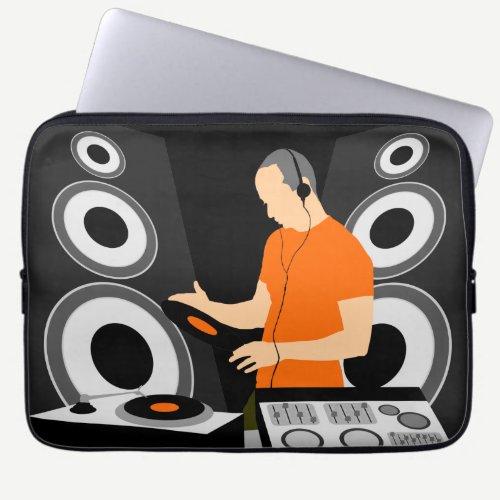 DJ Spinning Vinyl Computer Sleeve