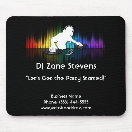 DJ Spinning Vinyl Mouse Pad