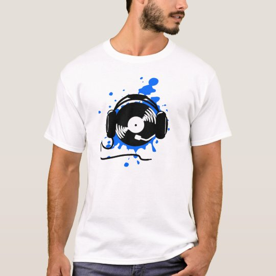DJ Splatter Design T-Shirt