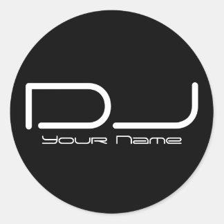 DJ Sticker Round Sticker
