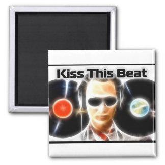 "DJ Stuff ""Kiss This Beat"" 2 Inch Square Magnet"