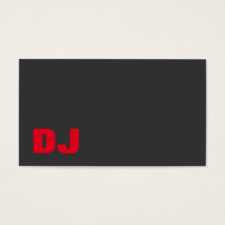 DJ Stylish Grey Background Red Orange Business Card