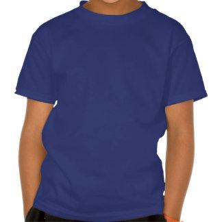 DJ su blanco del nombre en azul embroma la Camisetas