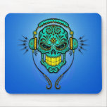 DJ Sugar Skull – Blue and Yellow Mouse Pads