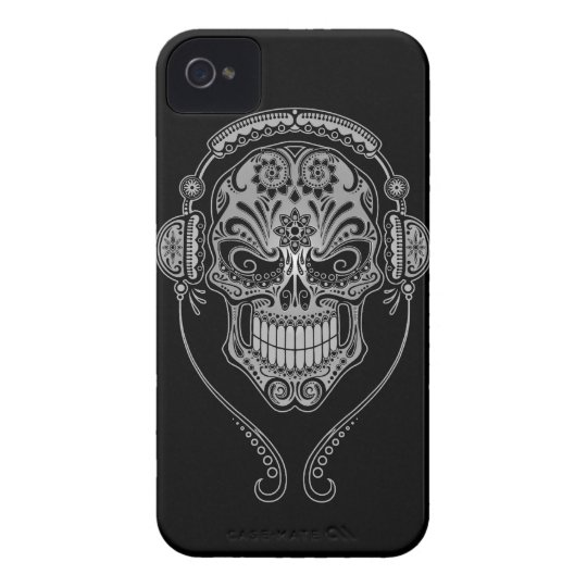 DJ Sugar Skull – dark Case-Mate iPhone 4 Case