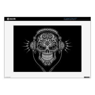 DJ Sugar Skull dark Decals For Laptops