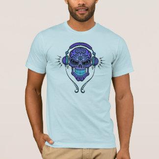 DJ Sugar Skull – Deep Blue T-Shirt