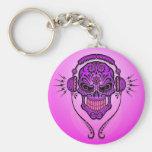 DJ Sugar Skull – Purple Keychain