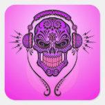 DJ Sugar Skull – Purple Sticker