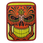 DJ Sugar Skull, red and yellow Sleeves For iPads