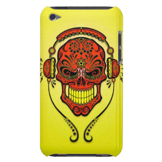 DJ Sugar Skull – Yellow and Red Barely There iPod Covers