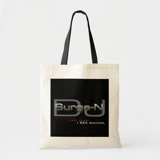 DJ Surge-N: Synaesthesia Tote Canvas Bags