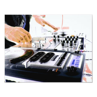DJ SYSTEM 4.25X5.5 PAPER INVITATION CARD