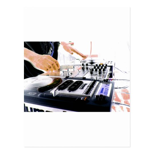 DJ System Postcard