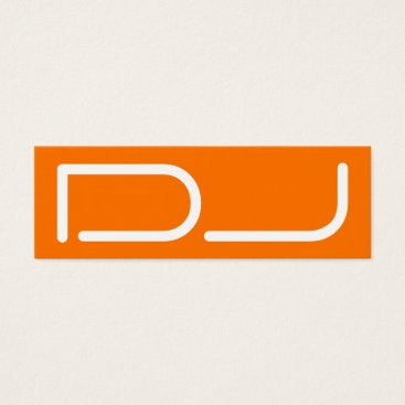 Professional Business DJ tag giant stand out logo style orange