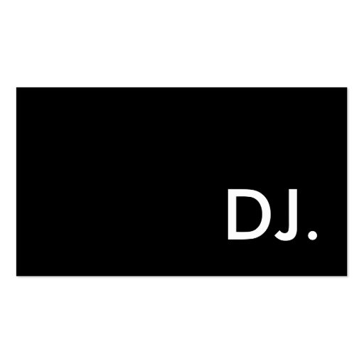 DJ TARJETAS DE VISITA