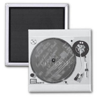 DJ Turntable 2 Inch Square Magnet