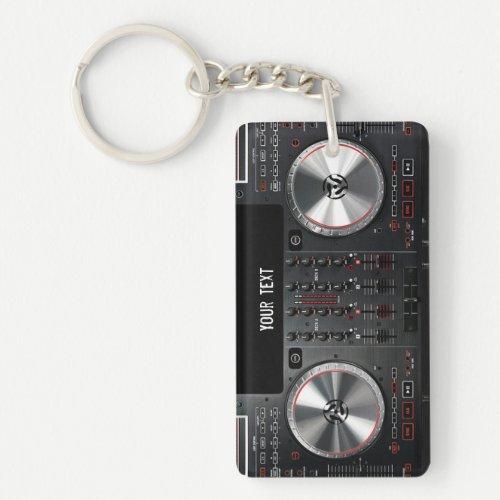 DJ turntable Acrylic Keychain