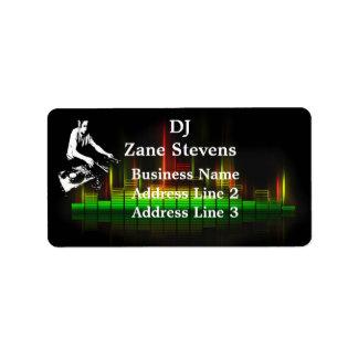 DJ Turntable Address Labels