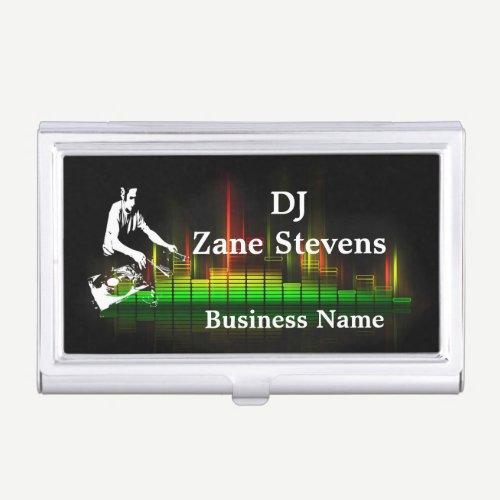 DJ Turntable Business Card Holder